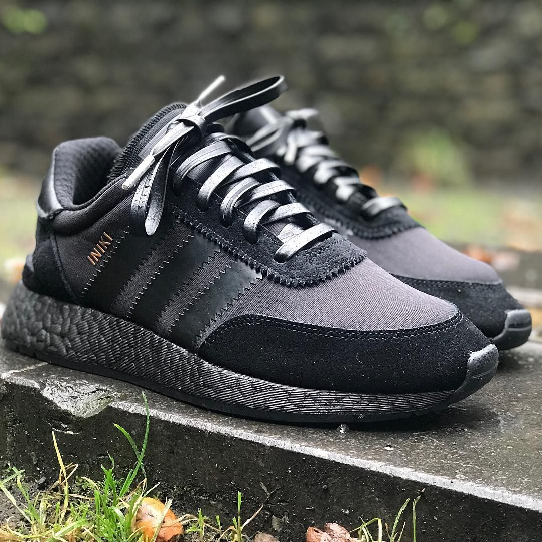 553218a9b1 Custom Triple Black adidas Iniki Runner