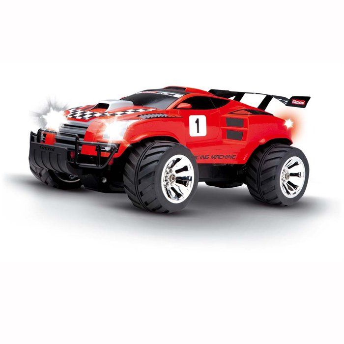1:10 scale RC vehicle runs at speeds up to 21.75 mph and has long running times of up to 30 minutes.