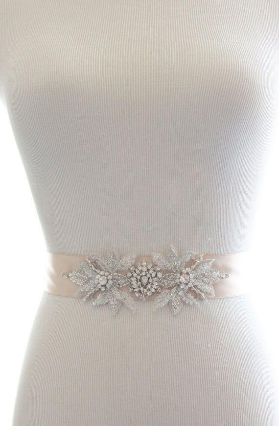 Rhinestone Crystal Bridal Sash, Crystal Wedding Belt