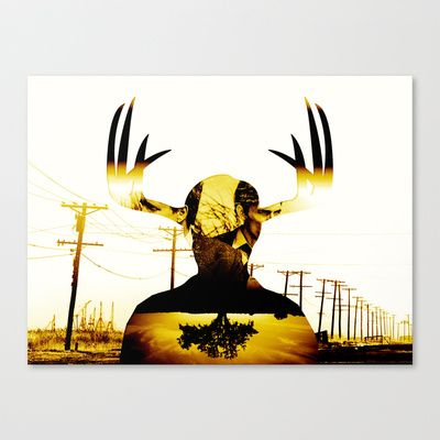 The King in Yellow - True Detective Stretched Canvas by David Tanimura - $85.00