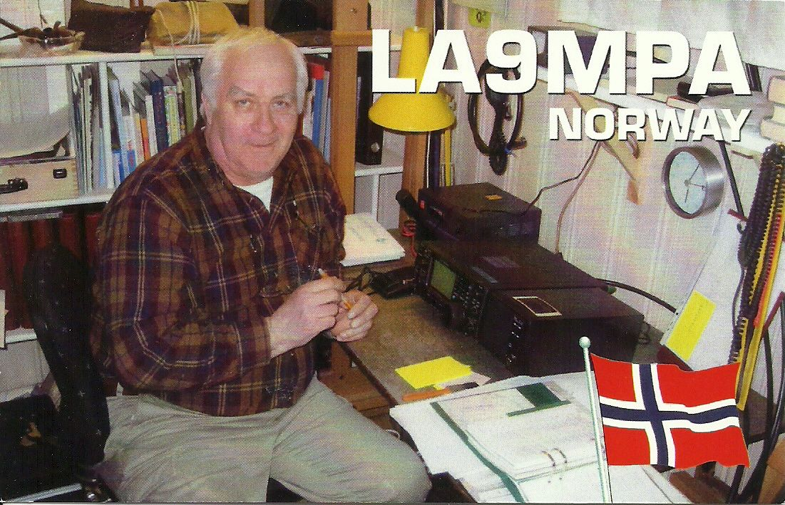 He owns the house I live in, but are also Amateur Radio, He is also old sailor from Norway