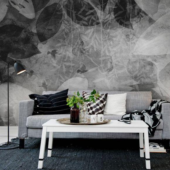 Panneau Garden Of Dreams En 2018 Papier Peint Noir Blanc