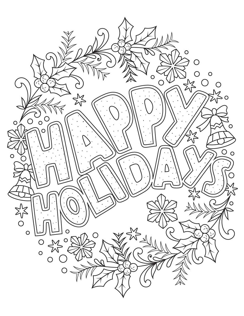 Crayola Coloring Pages Holiday Images