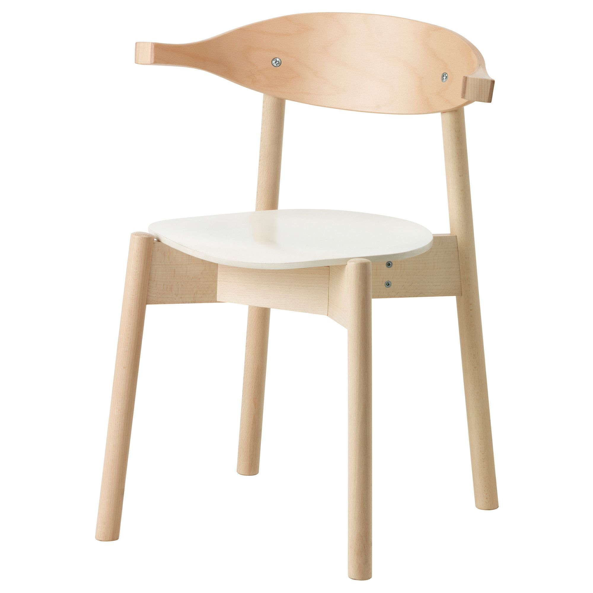 BOJNE Chair With Armrests Light Beech Width 55 Cm Depth 47 Height 72