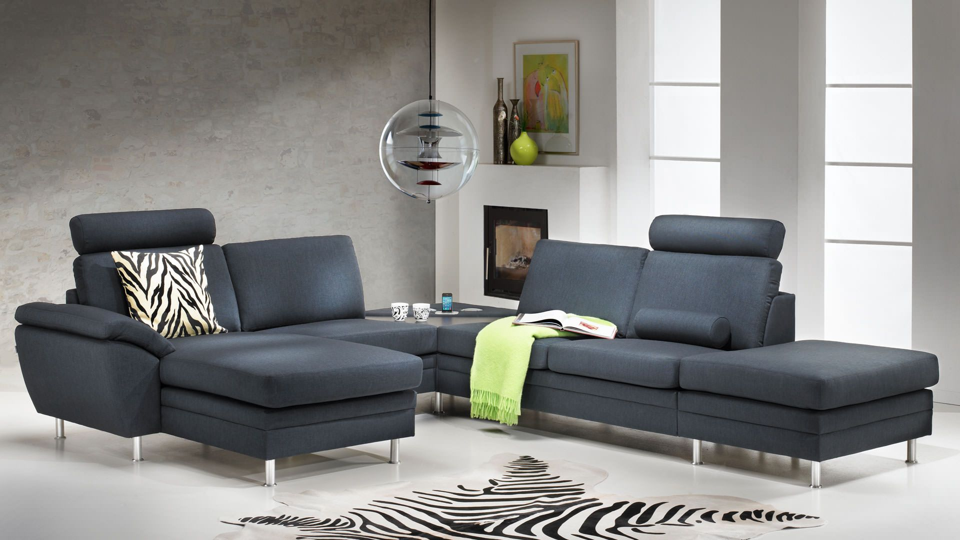 Multibygg couch corner sofa green danish design hjort ...