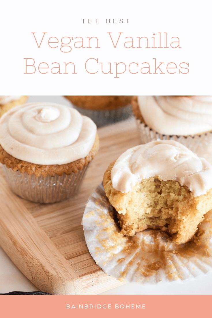 Vegan vanilla bean cupcake recipe