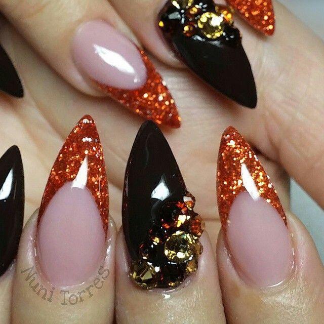 ️_Nᴬᴵᴸᶠᴵᴱˢ 4_ ️ | Thanksgiving nails, Halloween acrylic ...