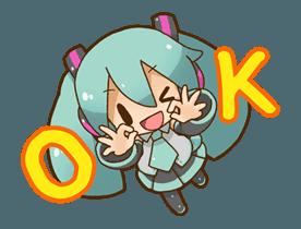 Hatsune Miku All Together Line Stickers Line Store Hatsune Miku Miku Miku Hatsune Vocaloid