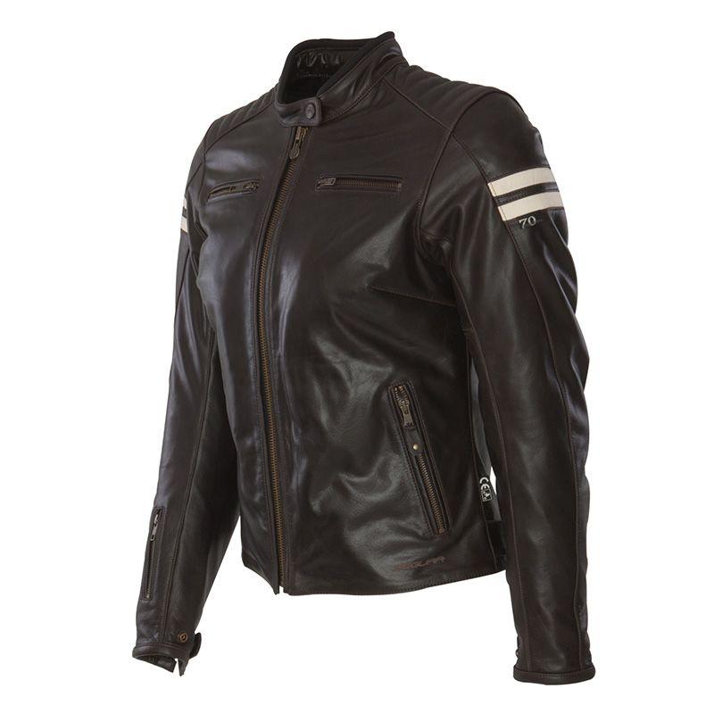 Veste cuir moto pour femme
