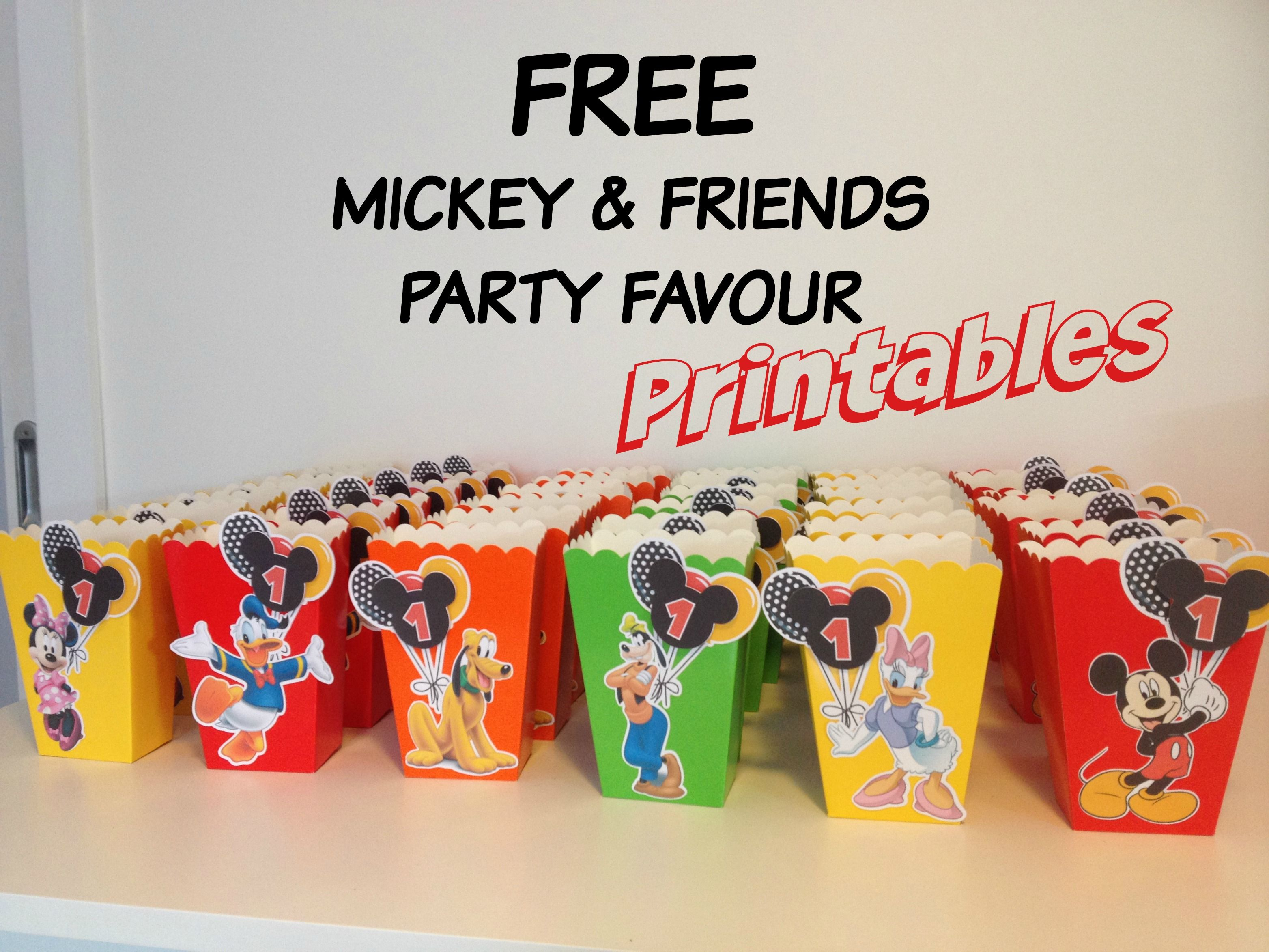 How to make Mickey Mouse inspired Popcorn Favour Boxes with Free ...