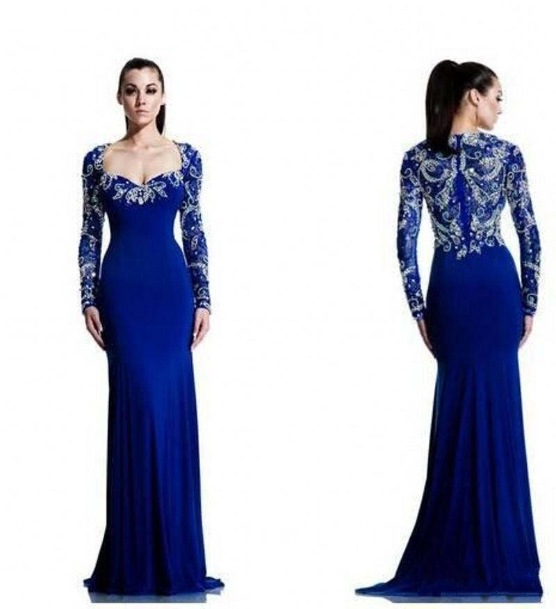 royal blue evening gowns with sleeves - gowns and dress ideas