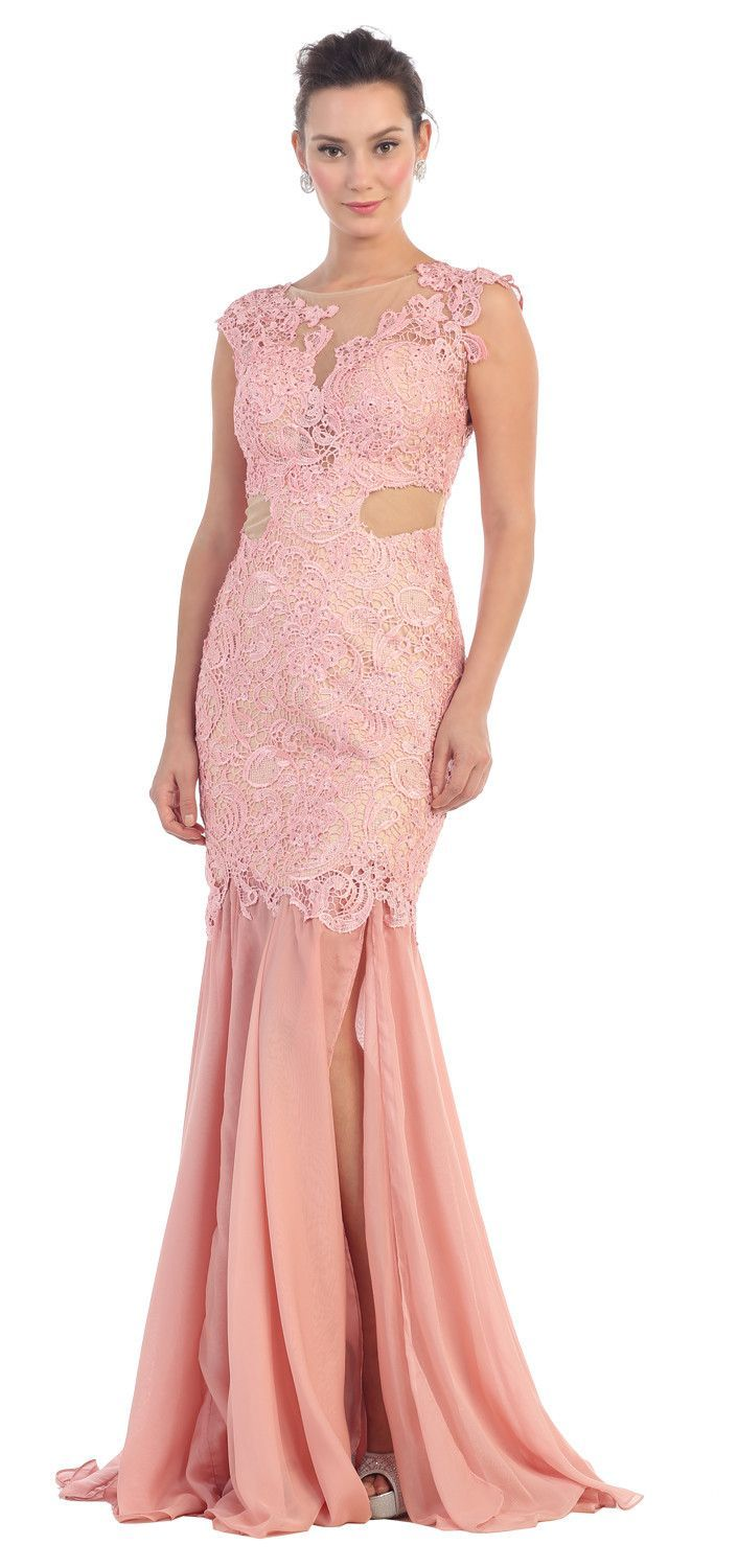 Long Lace Ball Gown Formal Dress Plus Size Prom Gown | Vestiditos