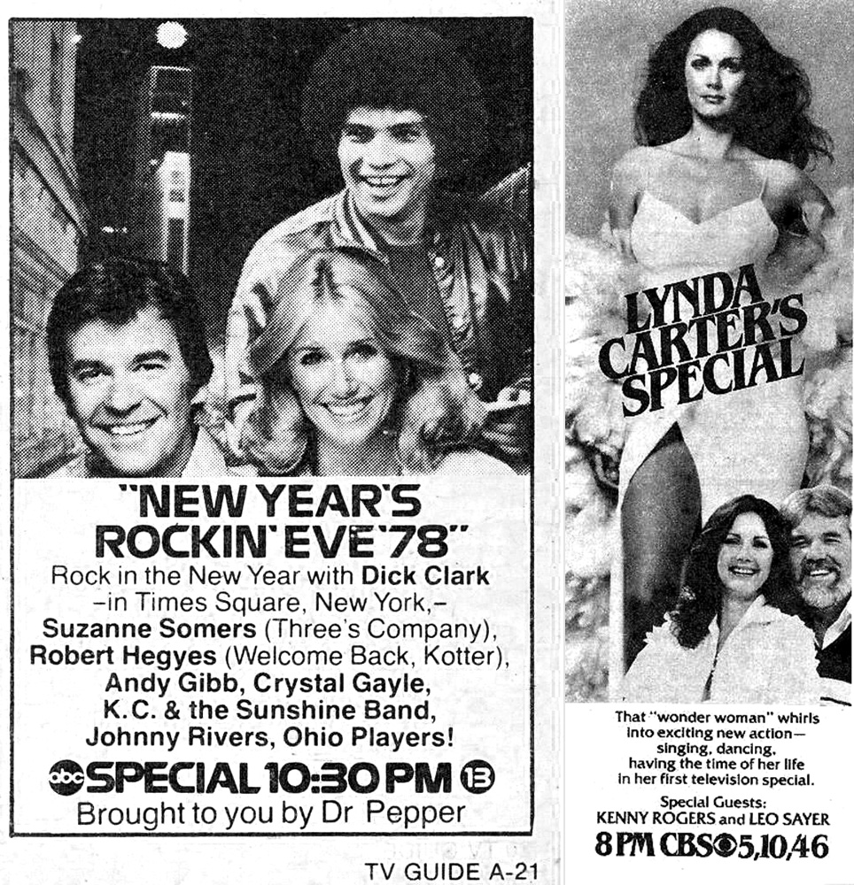 """New Year's Rockin' Eve '78"" & ""Lynda Carter's Special"