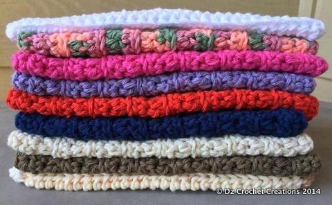 Cotton Crocheted Wash Cloth   Baby Wash Cloth  by HandMadeByDz, $3.00