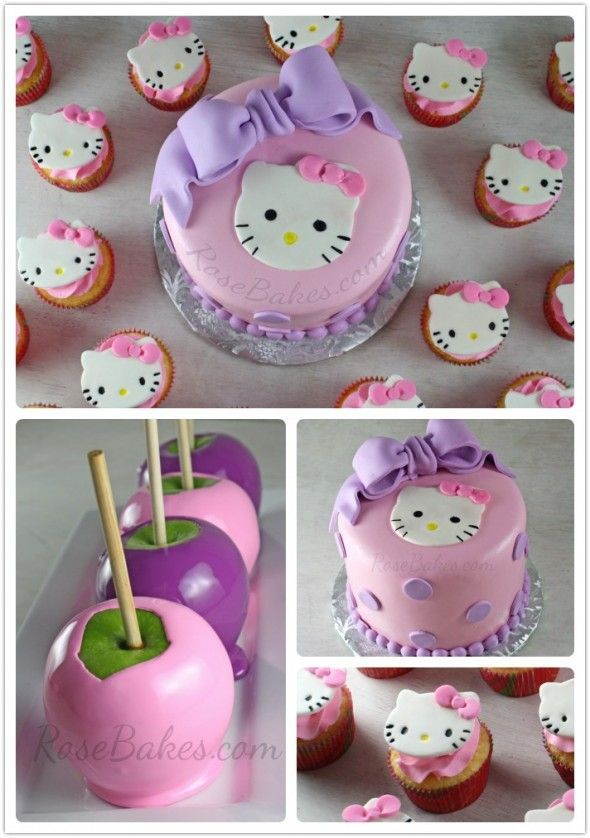 Hello Kitty Cake Cupcakes Candy Apples Hello kitty cake
