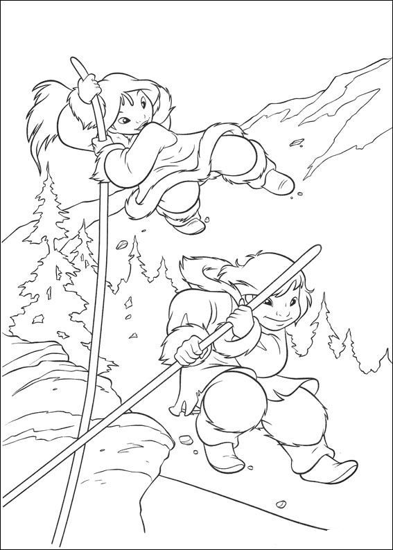 kleurplaat brother bear 2 brother bear 2 brother bearcoloring pages - Brother Bear Moose Coloring Pages