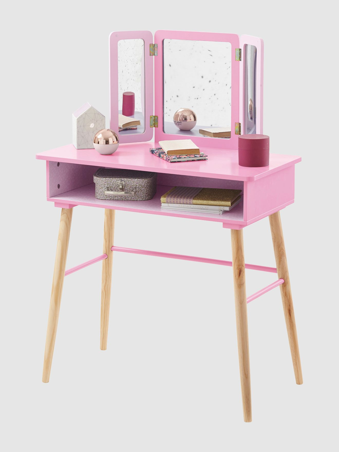 Tocador 3 espejos tema paraíso floreado niña, Habitación y ropa de ...