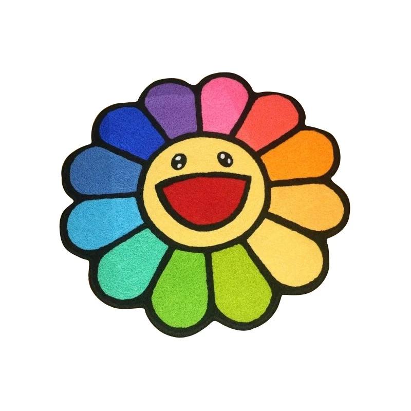 Murakami Flower Rug Homeless Penthouse Flower Rug Throw Rugs Flower Pillow