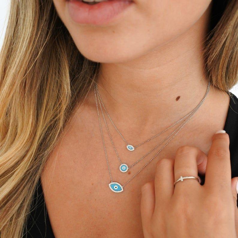 39+ Evil eye fine jewelry necklace info