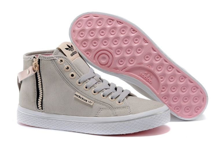 adidas honey hi w grau rosa