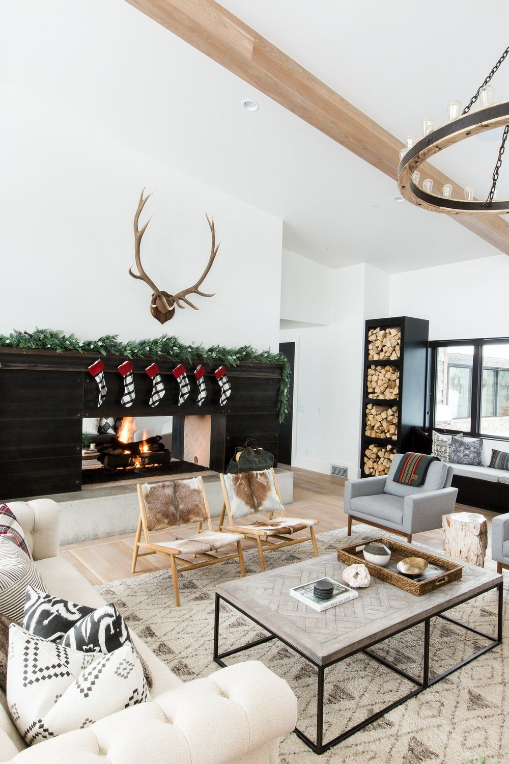 A very mountain home christmas holidays modern and for Very modern living room