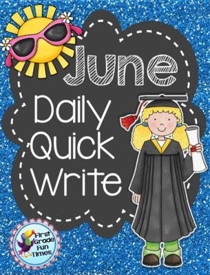 First Grade Fun Times  from  Quick Writes - June on TeachersNotebook.com -  (28 pages) - Writing Foldables for daily Quick Write activities - updated with interactive notebook pages