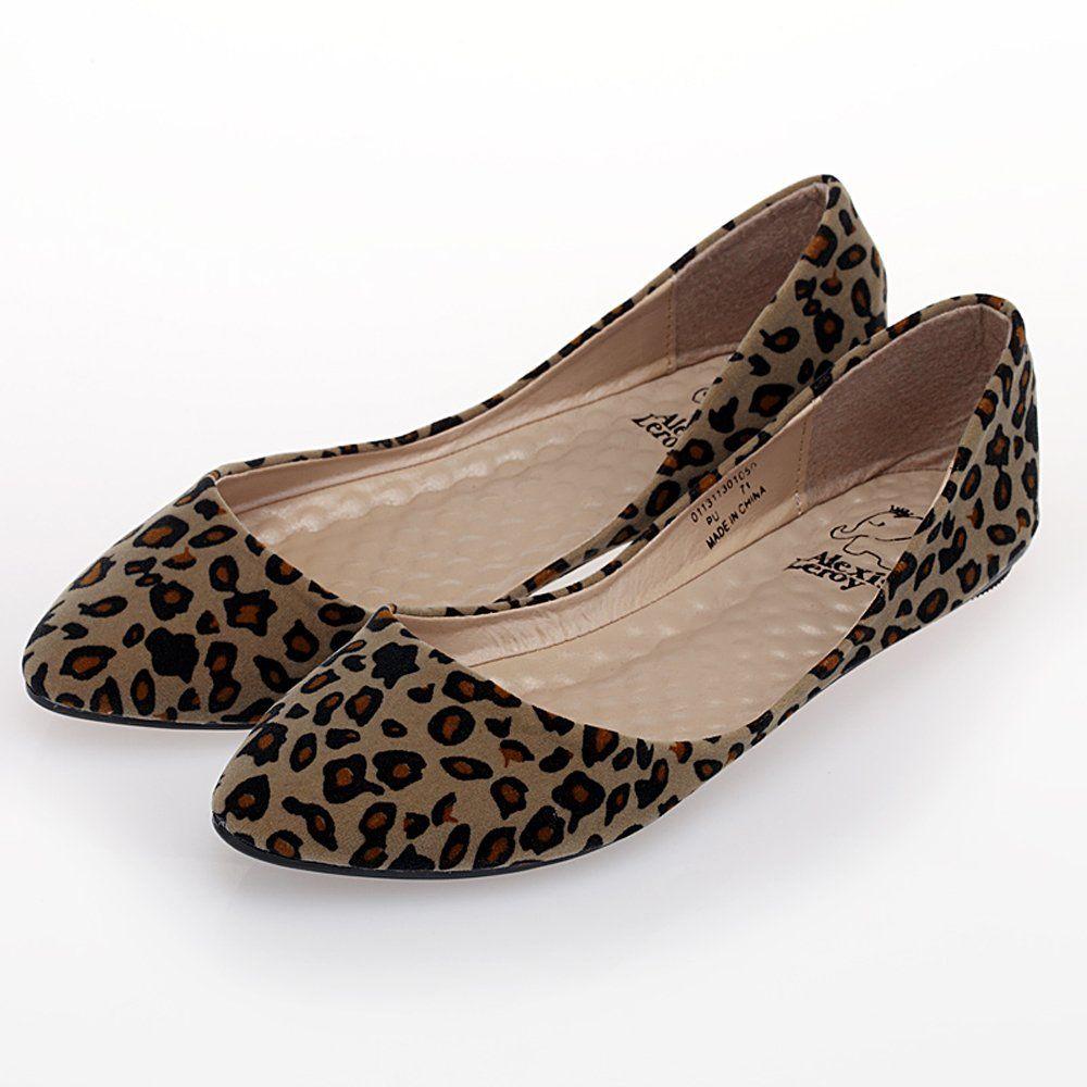 b97e43bb2 Alexis Leroy Womens Leopard Design Low Top Ballet Flats Shoes: Amazon.co.uk:  Shoes & Bags