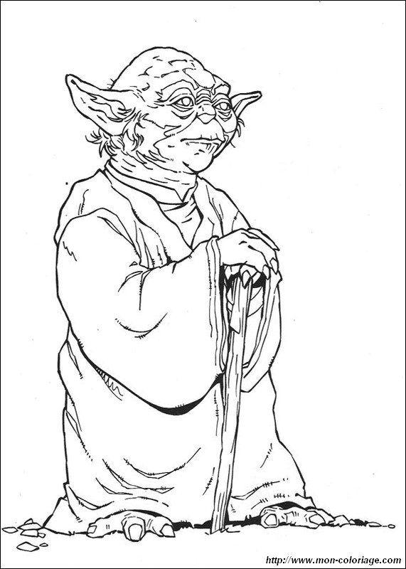 Le Grand Maitre Jedi Yoda Coloriage Star Wars Coloriage Et