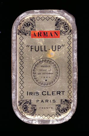 artist's multiple / gallery invitation (sardine can) by arman, 1960