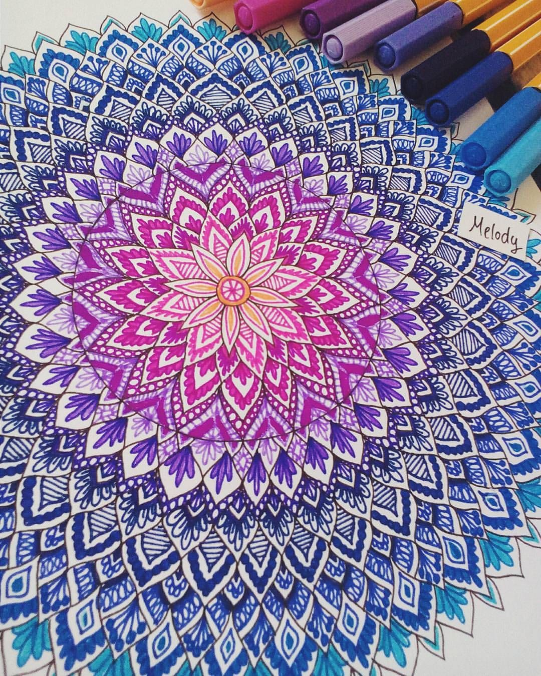Color art mandala wonders - This Would Make An Awesome Tattoo Beautiful Colors Art Melody On