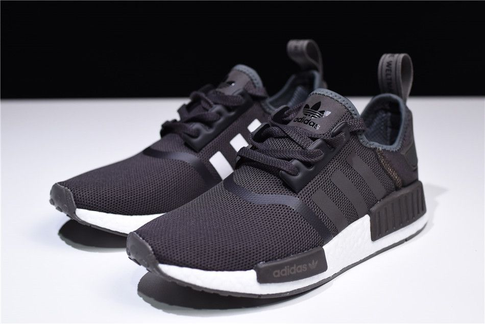 7168c6d033c9 2018 adidas NMD R1 Trace Grey Metalic White Shoes CQ2412 For Sale