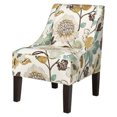 Design: Swoop Upholstered Accent Chair from Why We Like It: I have some  bibliophile friends who are always posting
