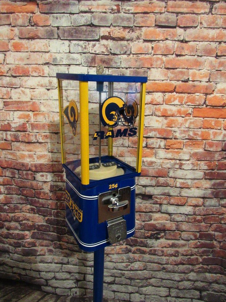 LA Rams inspired sport memorabilia vintage gumball machine