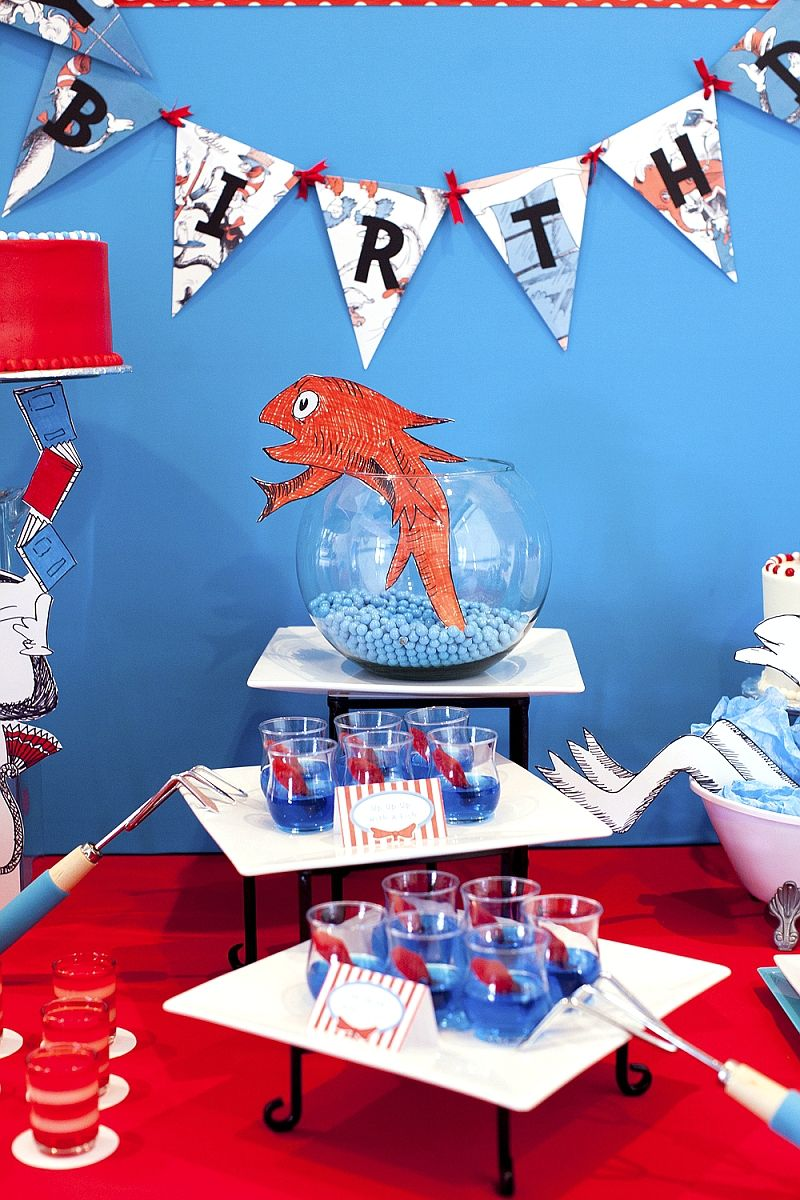 Cat In The Hat Inspired 3rd Birthday Party Cat Birthday Party Dr Suess Birthday Party Ideas Dr Seuss Birthday Party