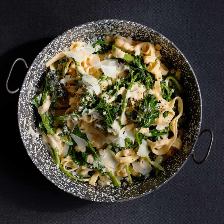 Thomasina Miers' recipe for sprouting broccoli tagliatelle