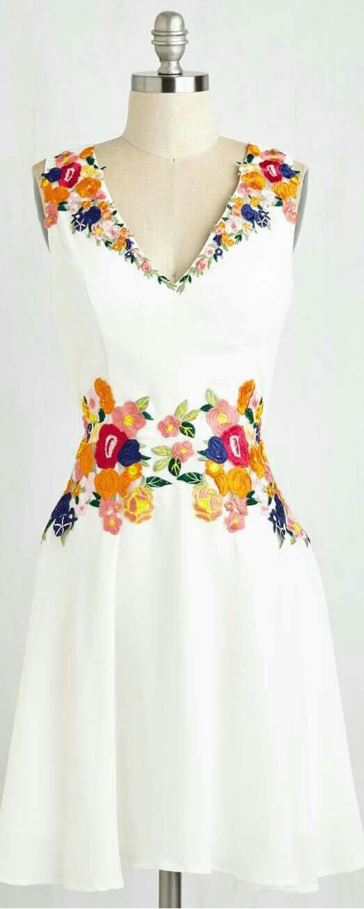 019d258356 Vestido bordados mexicanos