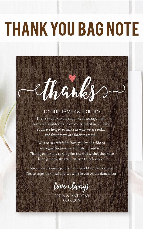 Handwritten Script Wedding Welcome Template Editable