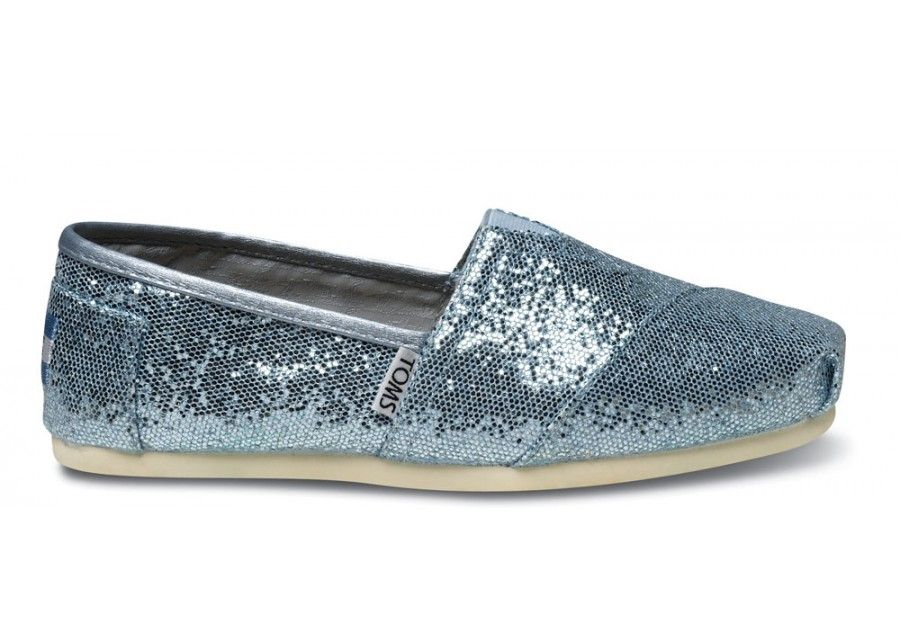 Tom's Blue Women's Glitters side. Toms Outlet StoreShoe ...