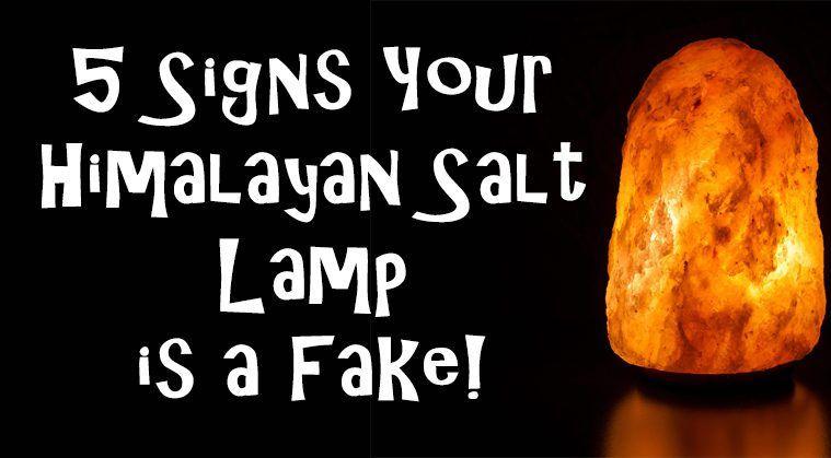 Genuine Himalayan Salt Lamp 5 Signs Your Himalayan Salt Lamp Is A Fake #fake #himalayan #lamp