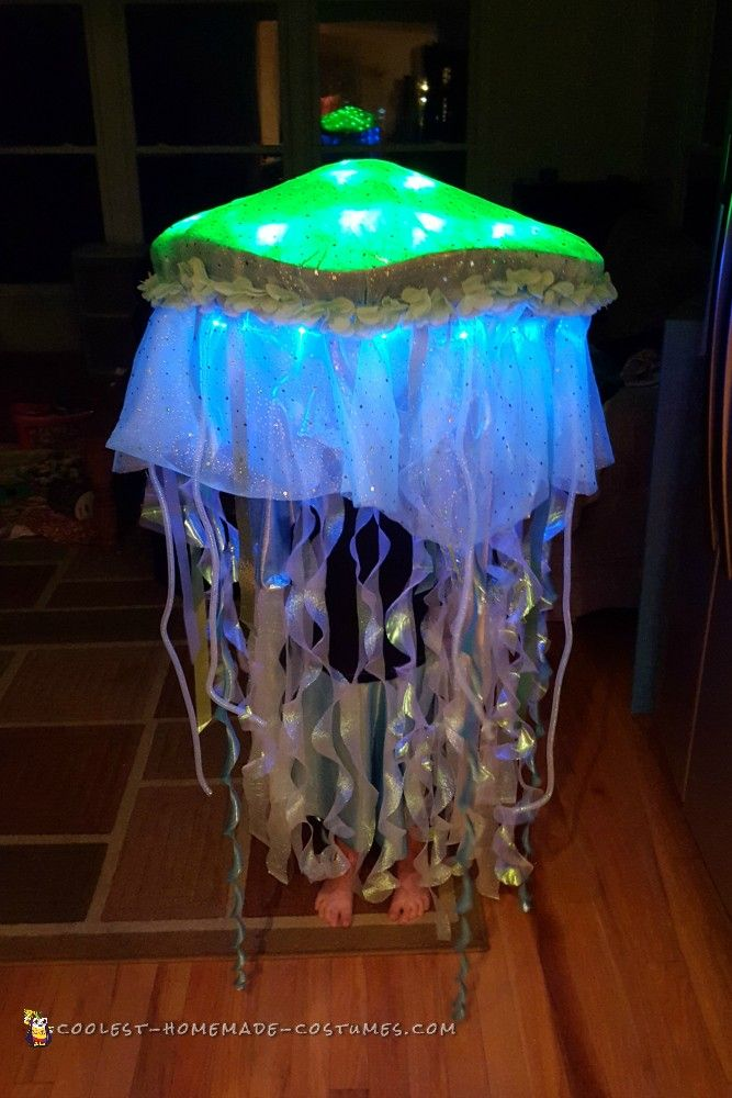 Glowing Jellyfish Costume... Coolest Homemade Costumes More & Glowing Jellyfish Costume | Pinterest | Homemade costumes Costumes ...