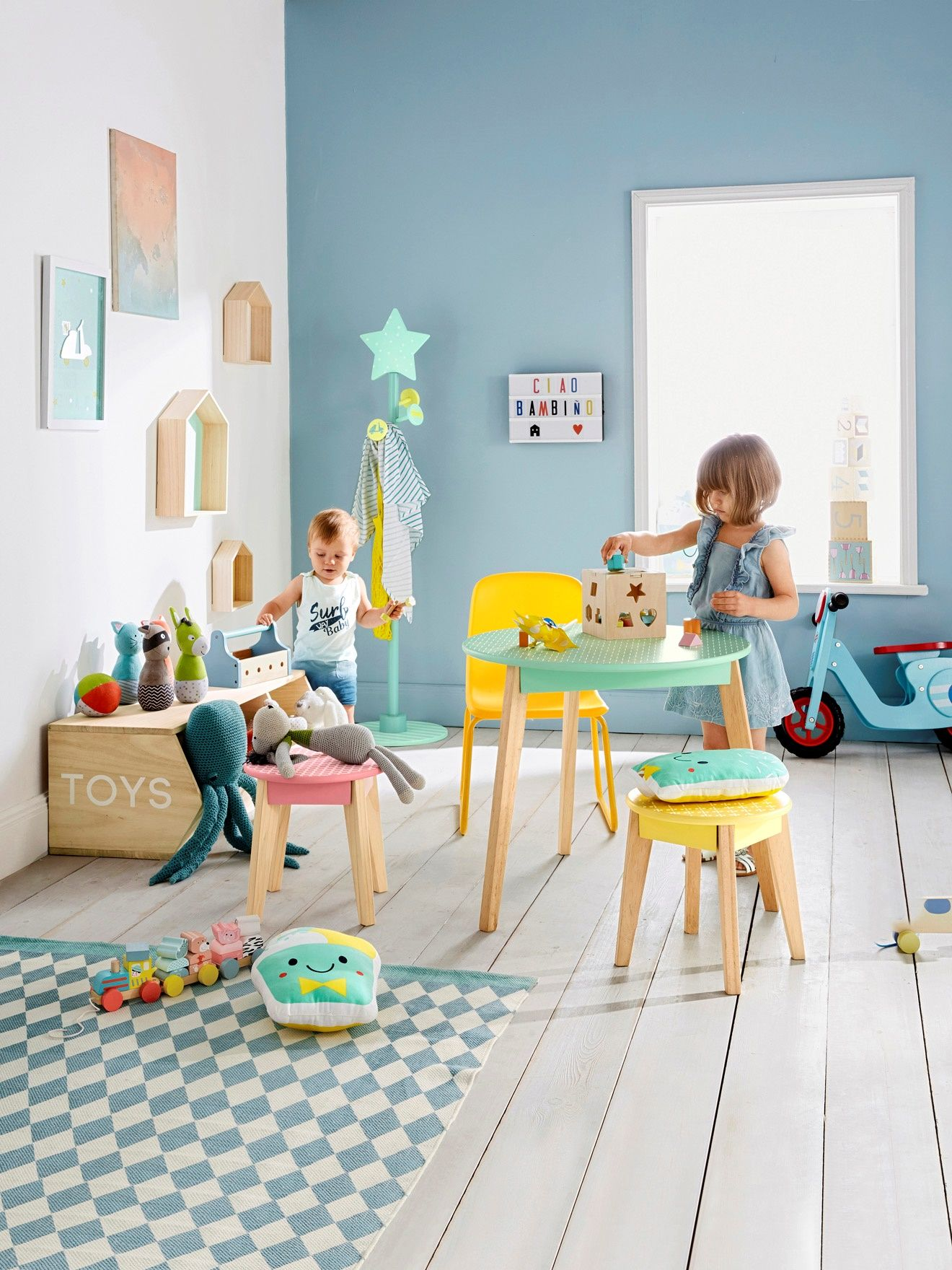 Wood Effect Kids Playroom Bedroom Storage Chest Trunk: Stylish 3-box Storage Unit, Colour Of Wood, For Children's