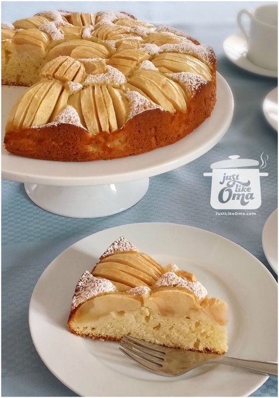 German Apple Cake Recipe Made Just Like Oma Recipe German Apple Cake German Baking Apple Cake Recipes