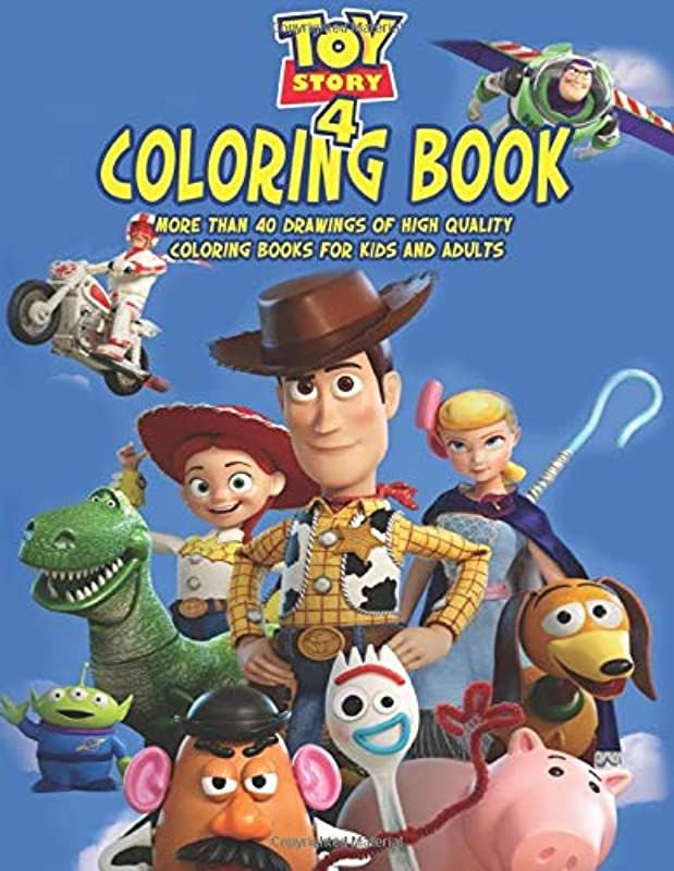 Free Read Toy Story 4 Coloring Book Toy Story More Than 40 Drawings Of High Quality Coloring Books