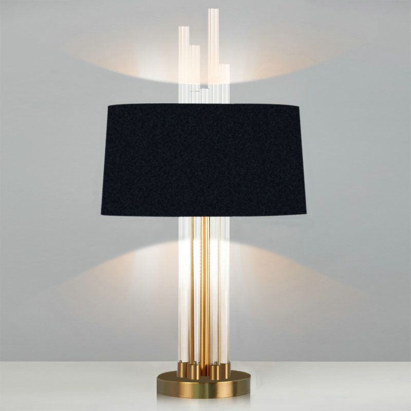 Contemporary Simple Table Lamp Bedroom Study Room Table Lamp Iron Glass Fixture Fabric Shade Desk Lamp Lamp Table Lamps For Bedroom Beautiful Lamp