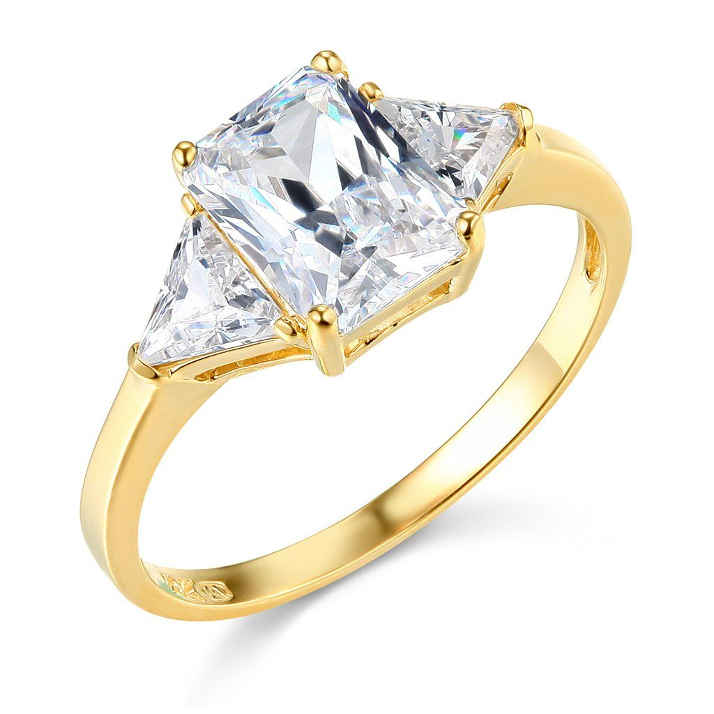 14k Yellow Gold Solid Wedding Engagement Ring  Size 8 Band Width : 25 Mm