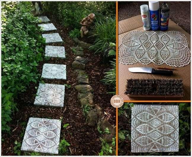 Transformez Vos Dalles De Jardin Garden Stepping Stones Mosaic Garden Diy Concrete Patio