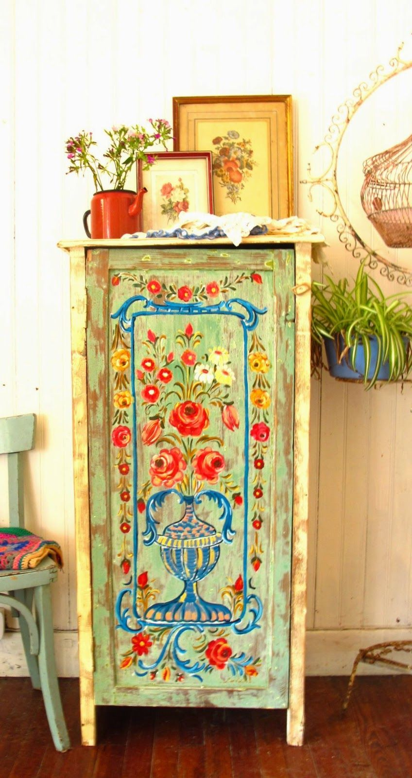 Las vidalas handpainted furniture from flasvidalas for Muebles estilo indio