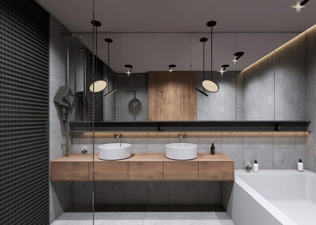 Entretien Pierre Bleue Salle De Bain ~ 40 Id Es De Salles De Bain Double Vasques Bathrooms Pinterest