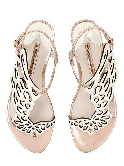 e964334d885b SOPHIA WEBSTER 10Mm Seraphina Metallic Leather Sandals