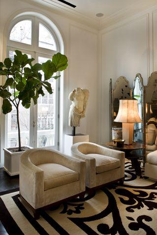 Essential Fiddle Leaf Fig Tree Xosocialite Pamplemousse Design Inc A Mansion Upper East Interieur Maison Decoration Classique Idees De Design D Interieur